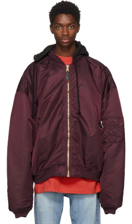 Vetements - Reversible Red Alpha Industries Edition Oversized Hooded Bomber