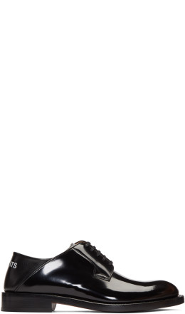 Vetements - Black Babouche Derbys