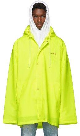 Vetements - Yellow Short Logo Raincoat