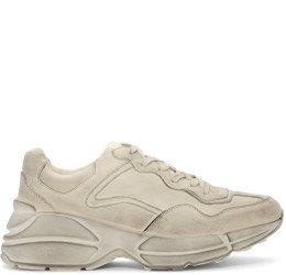 Gucci - White Rhyton Sneakers