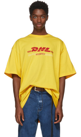 Vetements - Yellow 'DHL' Double T-Shirt
