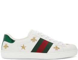 Gucci - White Bee & Star New Ace Sneakers