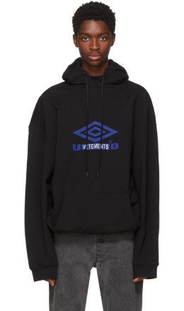 Vetements - Black Umbro Edition Oversized Hoodie