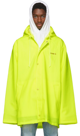 Vetements - Yellow Short Logo Raincoat
