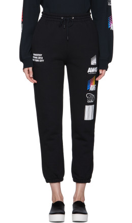 Alexander Wang - SSENSE Exclusive Black Sponsored Lounge Pants