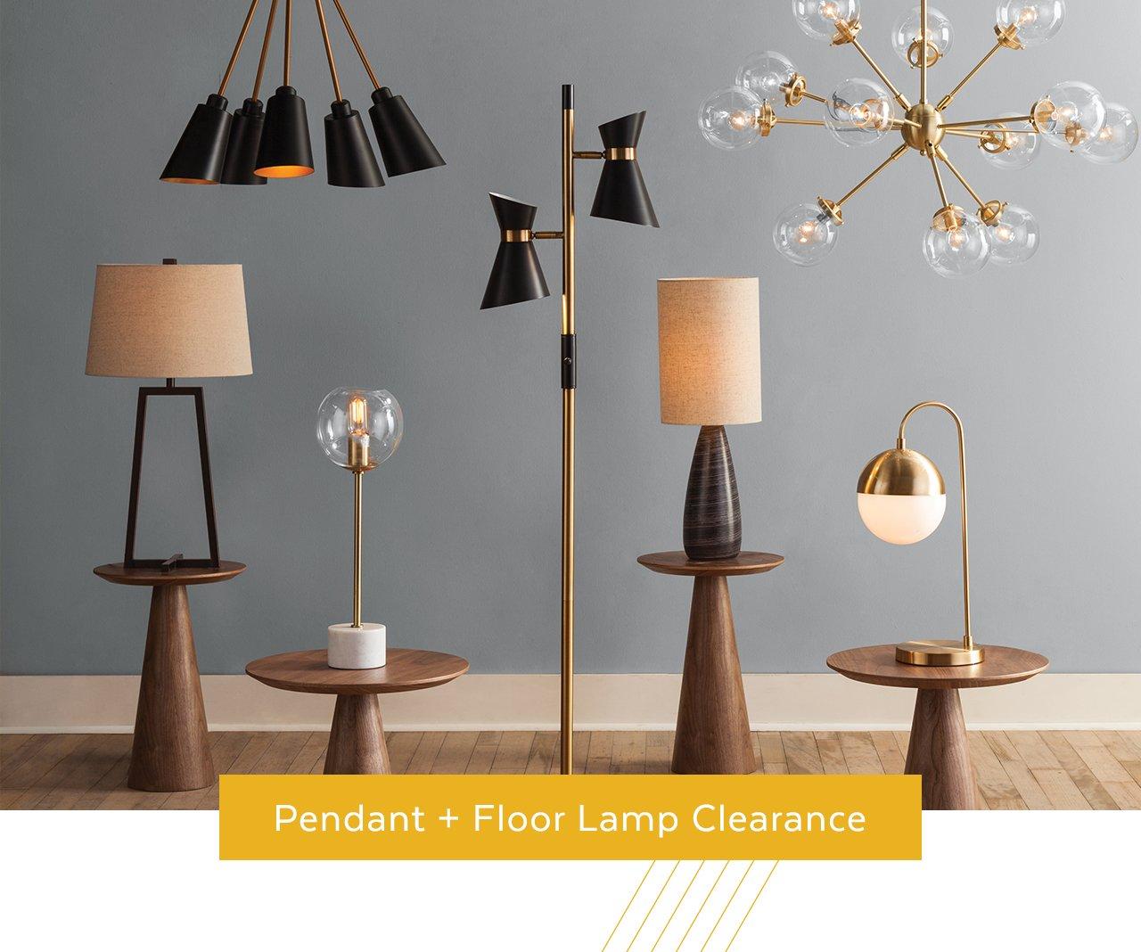 Pendant + Floor Lamp Clearance