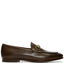 Gucci - Brown Jordaan Classic Loafers