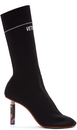 Vetements - Black Lighter Heel Sock Boots