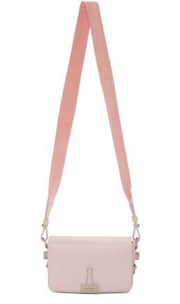 Off-White - Pink Mini Binder Clip Bag