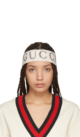 Gucci - White Logo Headband