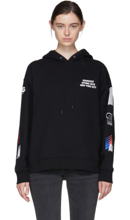 Alexander Wang - SSENSE Exclusive Black Sponsored Hoodie