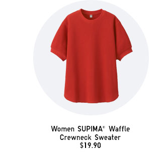 Women SUPIMA Waffle Crewneck Sweater - SHOP NOW