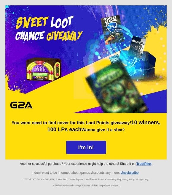 G2A: ⛅ -forecast: cloudy with a chance of Loot Points!   Milled