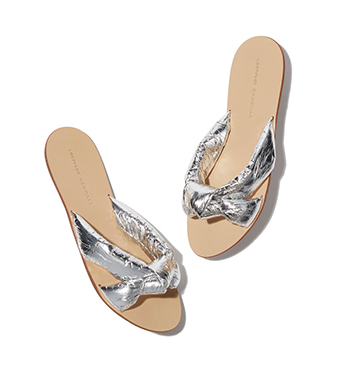 Loeffler Randall Iris Metallic Sandal, $275