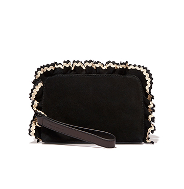 Loeffler Randall Attache Ruffle Clutch $275