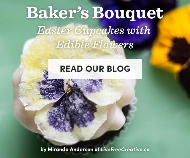 Easter Cupcakes With Edible Flowers - Read Our Blog