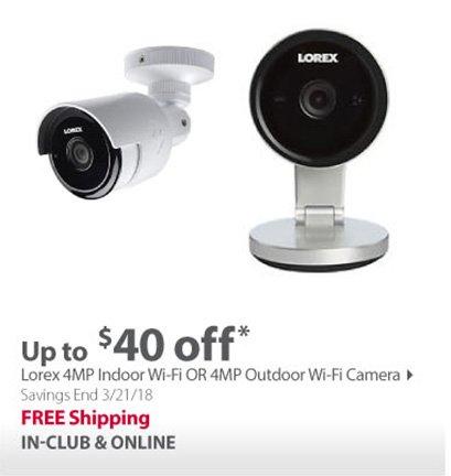 Lorex 4MP Indoor Wi-Fi OR 4MP Outdoor Wi-Fi Camerax