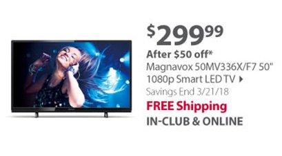 Magnavox 50MV336X/F7 50 1080p Smart LED TV