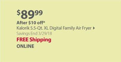 Kalorik XL Digital Family Air Fryer - Black/Stainless Steel