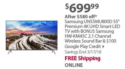 Samsung QN55Q7CD 55 4K UHD Curved Smart QLED TV
