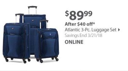 Atlantic 3pc Luggage Set