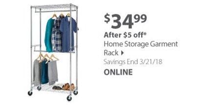 Home Storage Garment Rack