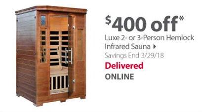 Luxe 2 or 3 Person Hemlock Infrared Sauna