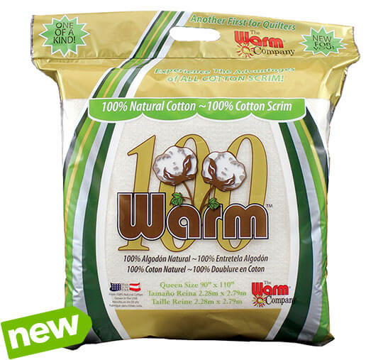 NEW!  Warm 100 Batting. 100% natural cotton,Premium quailty for quilts and crafts.