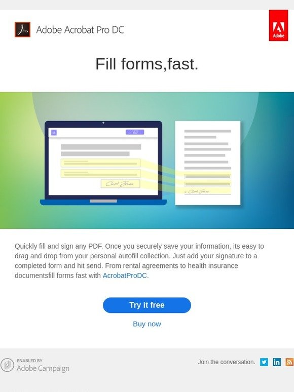 Adobe: Fill, sign and send forms in seconds | Milled