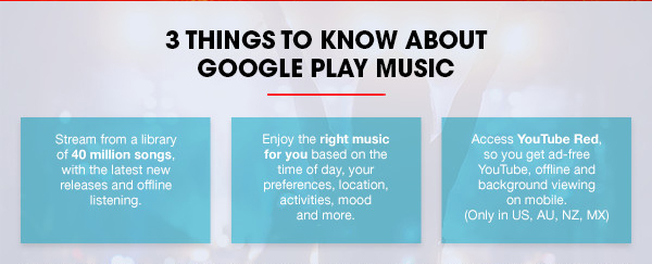 3 Things to Know About Google Play Music: Stream from a library of 40  million