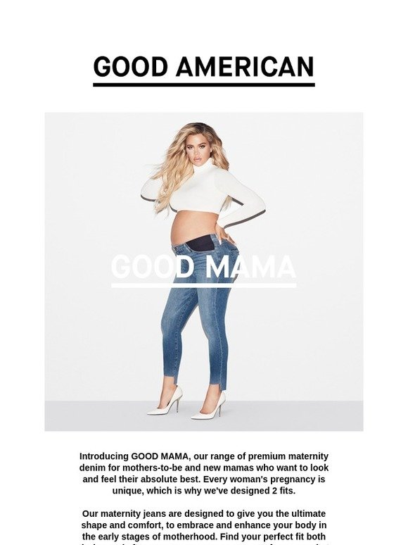 15586c519e7a8 GOOD AMERICAN: Just Dropped...Maternity Denim That's Sexy and Supportive |  Milled