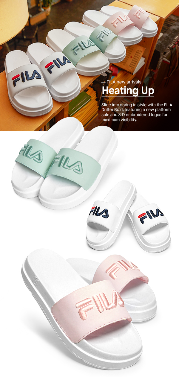 FILA: Not your average slides. Introducing the women's FILA ...