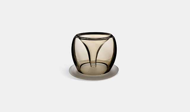 Glass plant pot by Valner Glass