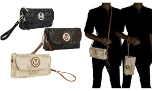 MKF Collection Multi-Pocket Wristlet Crossbody Bag by Mia K Farrow