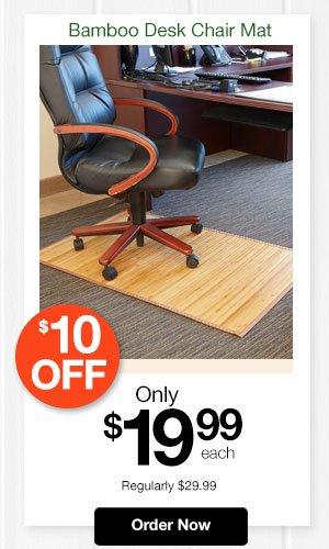 Bamboo Desk Chair Mat
