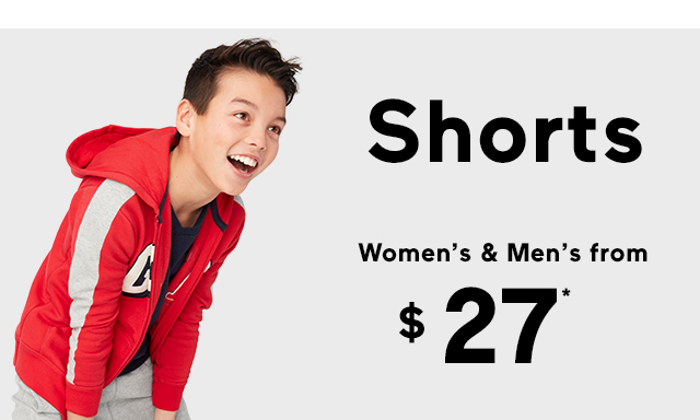 Shorts | Women's & Men's from $27*