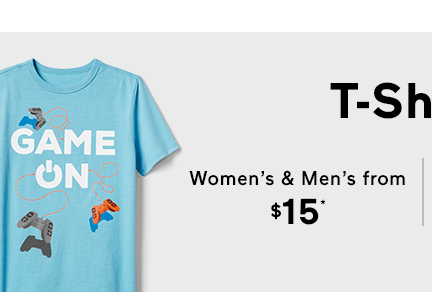T-Shirts | Women's & Men's from $15*