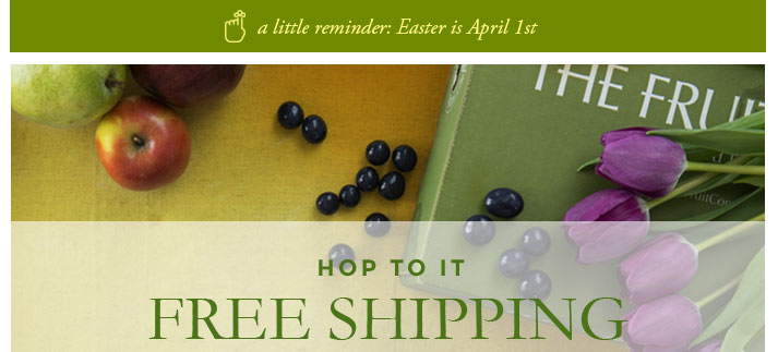 The fruit company free shipping send easter cheer with beautiful easter gifts negle Choice Image