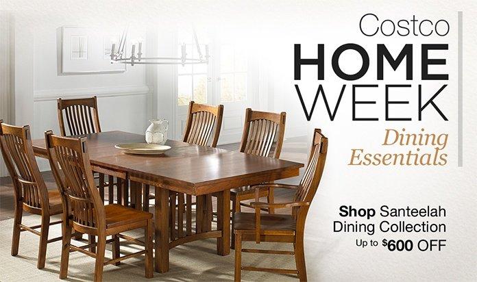 Costo: Costco Home Week! Save on Dining Furniture, Dinnerware ...