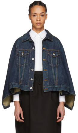 Junya Watanabe - Indigo Cape Effect Denim Jacket
