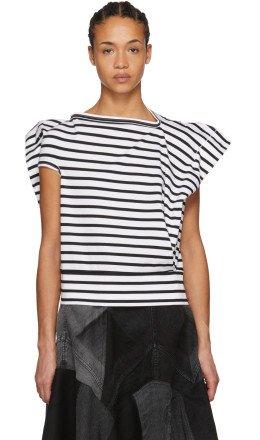 Junya Watanabe - Black & White Skewed T-Shirt