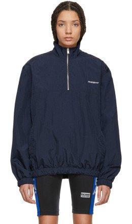 MISBHV - Navy Half-Zip Sport Track Jacket