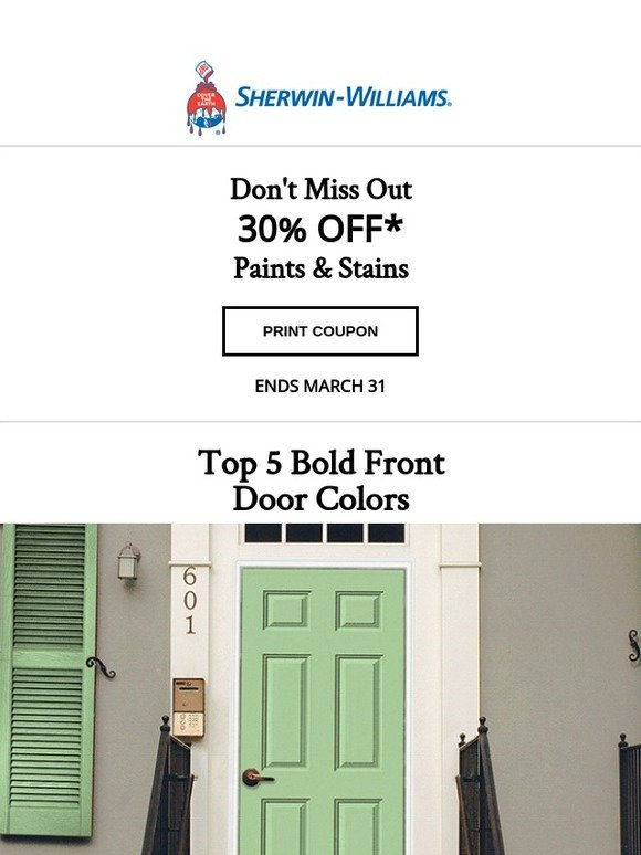 Sherwin Williams Home: 5 beautifully bold front door colors are here ...