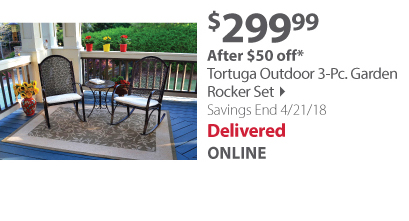 Tortuga Outdoor 3-Pc. Garden Rocker Set