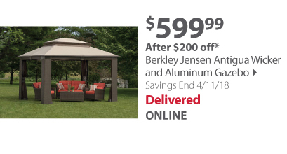 BJ Wicker Gazebo