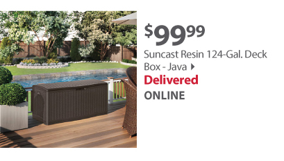 Suncast Resin 124-Gal. Deck Box - Java