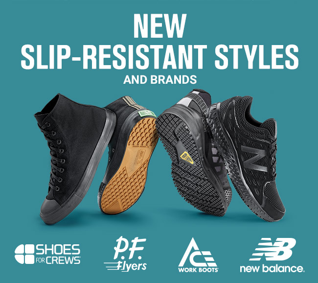 Shoes for Crews: NEW Slip-Resistant