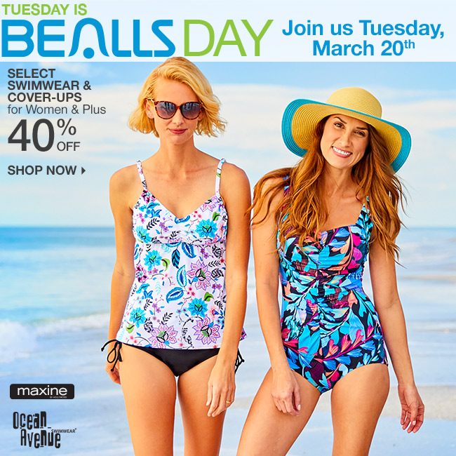 7a6366790c52f Tuesday is Bealls Day! Shop 40% Off Select Swimwear   Cover-Ups for