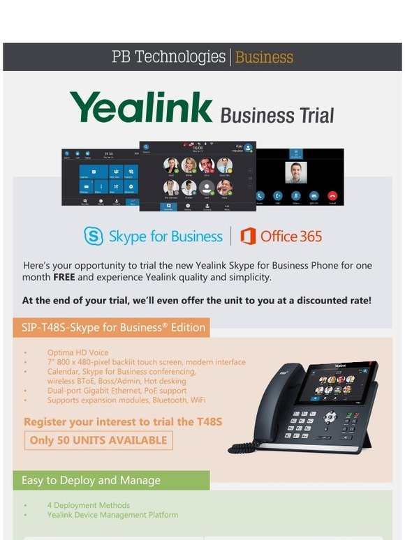 PB Tech: Trial Yealink's newest IP Phone for FREE! | Milled