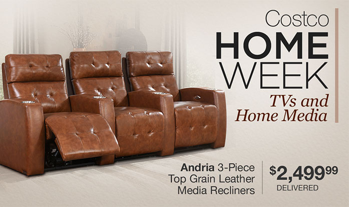 costo update your living room or media center and save on leather